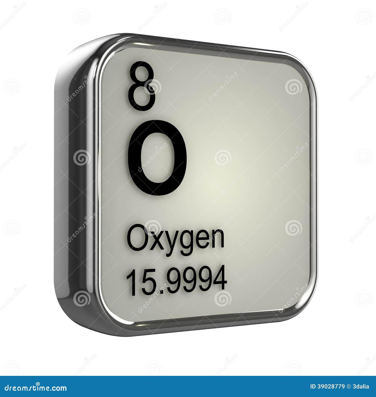 3d Oxygen Element Stock Illustration Image 39028779
