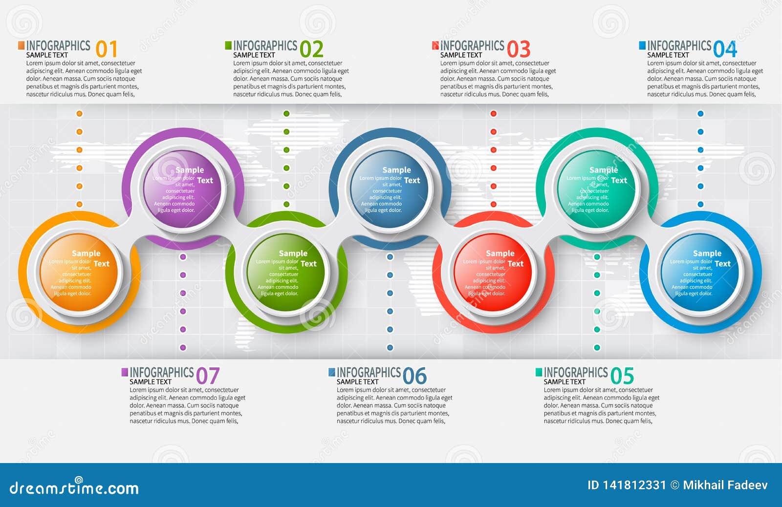 3D papel abstrato Infographics Molde do negócio Ilustração do vetor