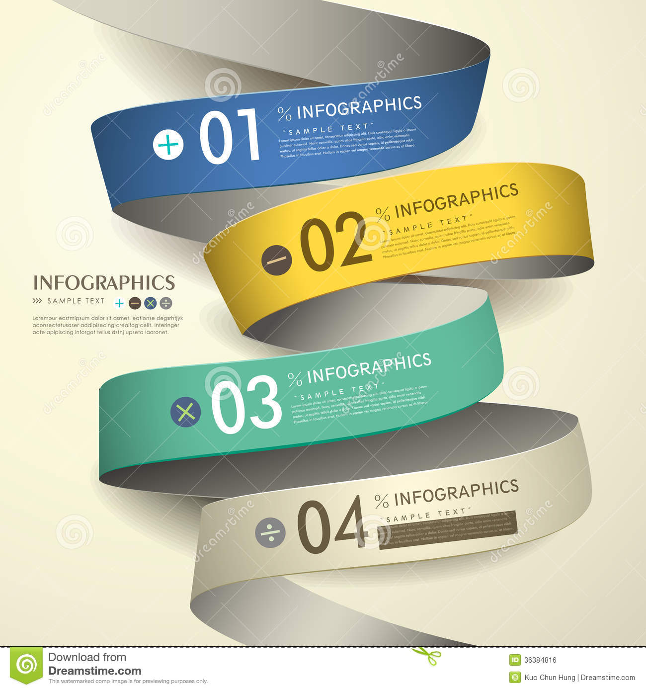 3d Paper Abstract Flow Chart Infographics Royalty Free Stock Image ...