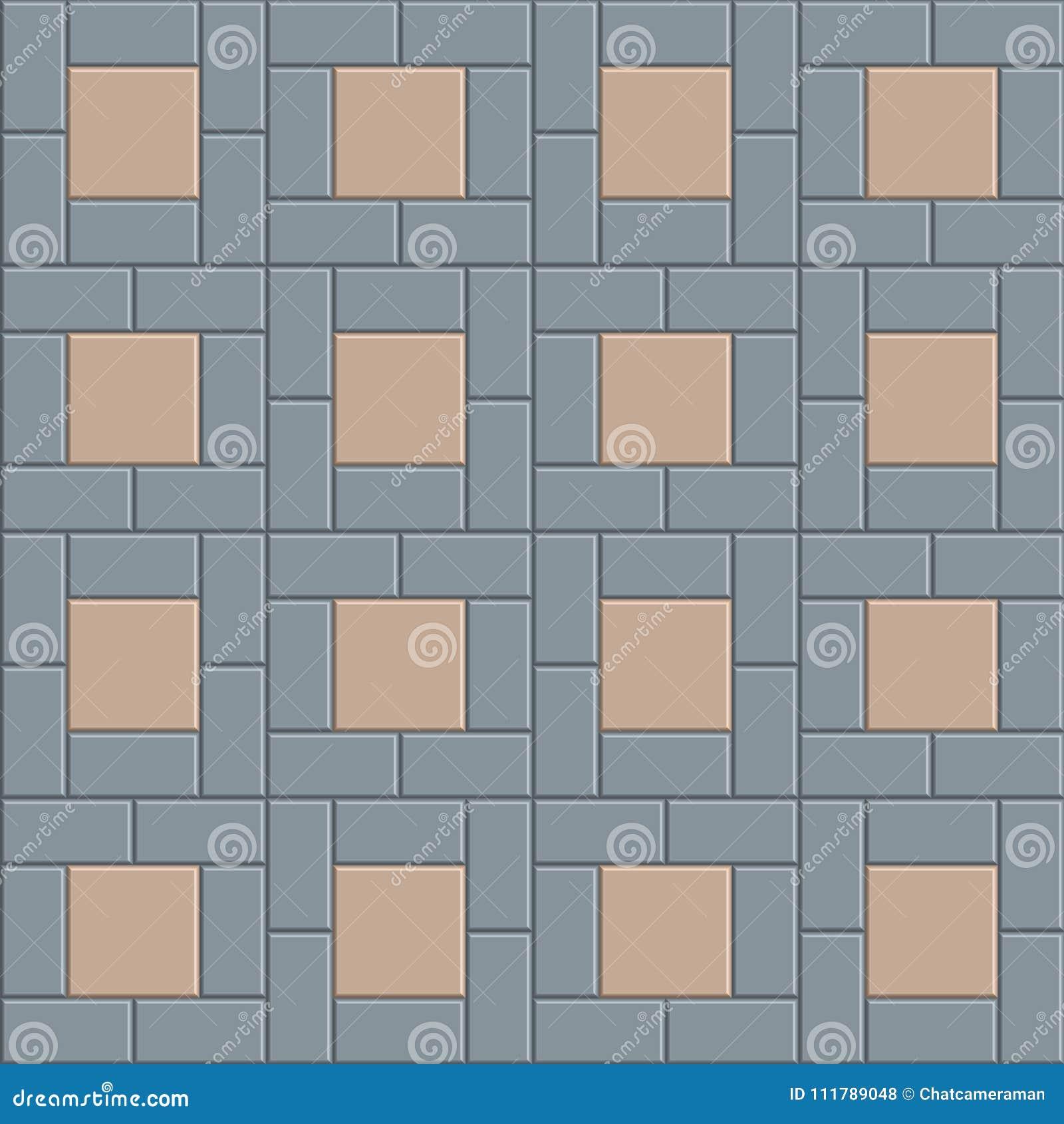 3D pavement tile floor stock vector. Illustration of footpath ...