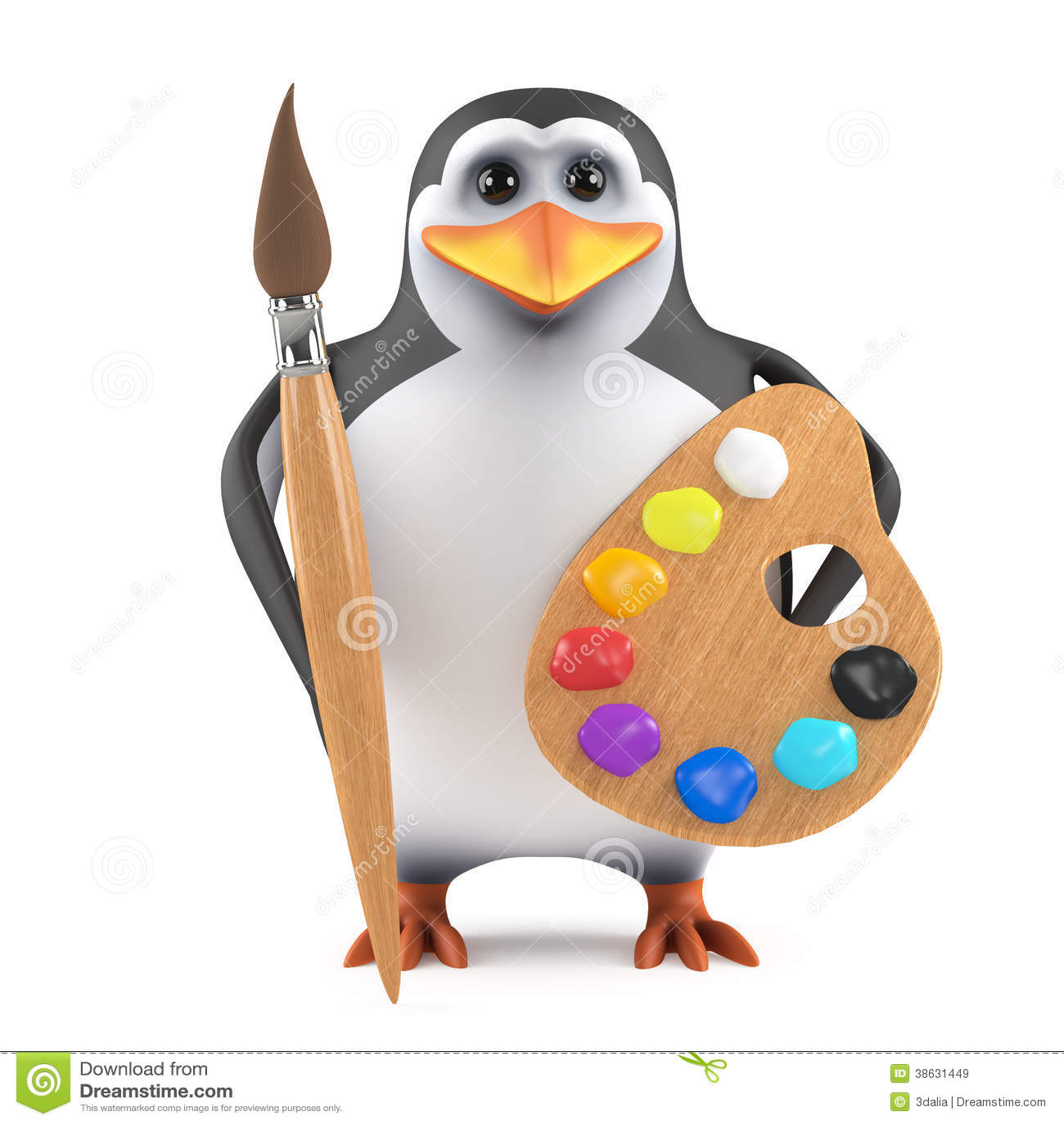 baby pinguin malen