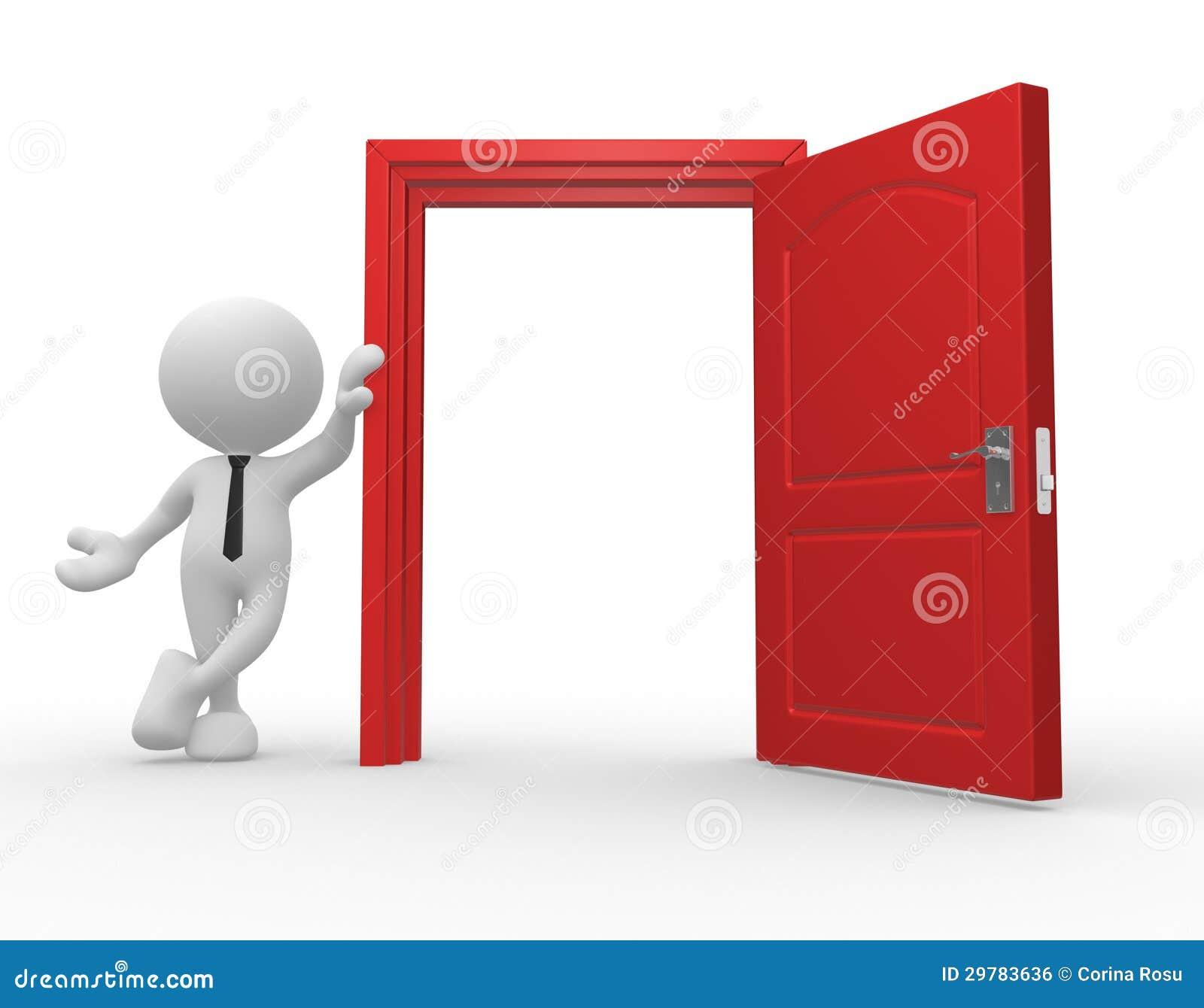 People Opening Doors : Open door royalty free stock image