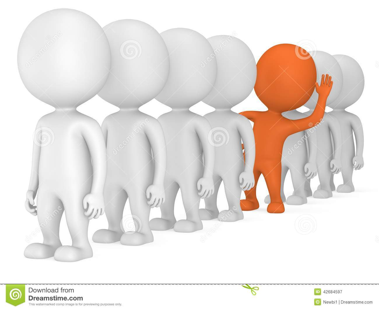 3d people stand in line stock illustration illustration of humorous