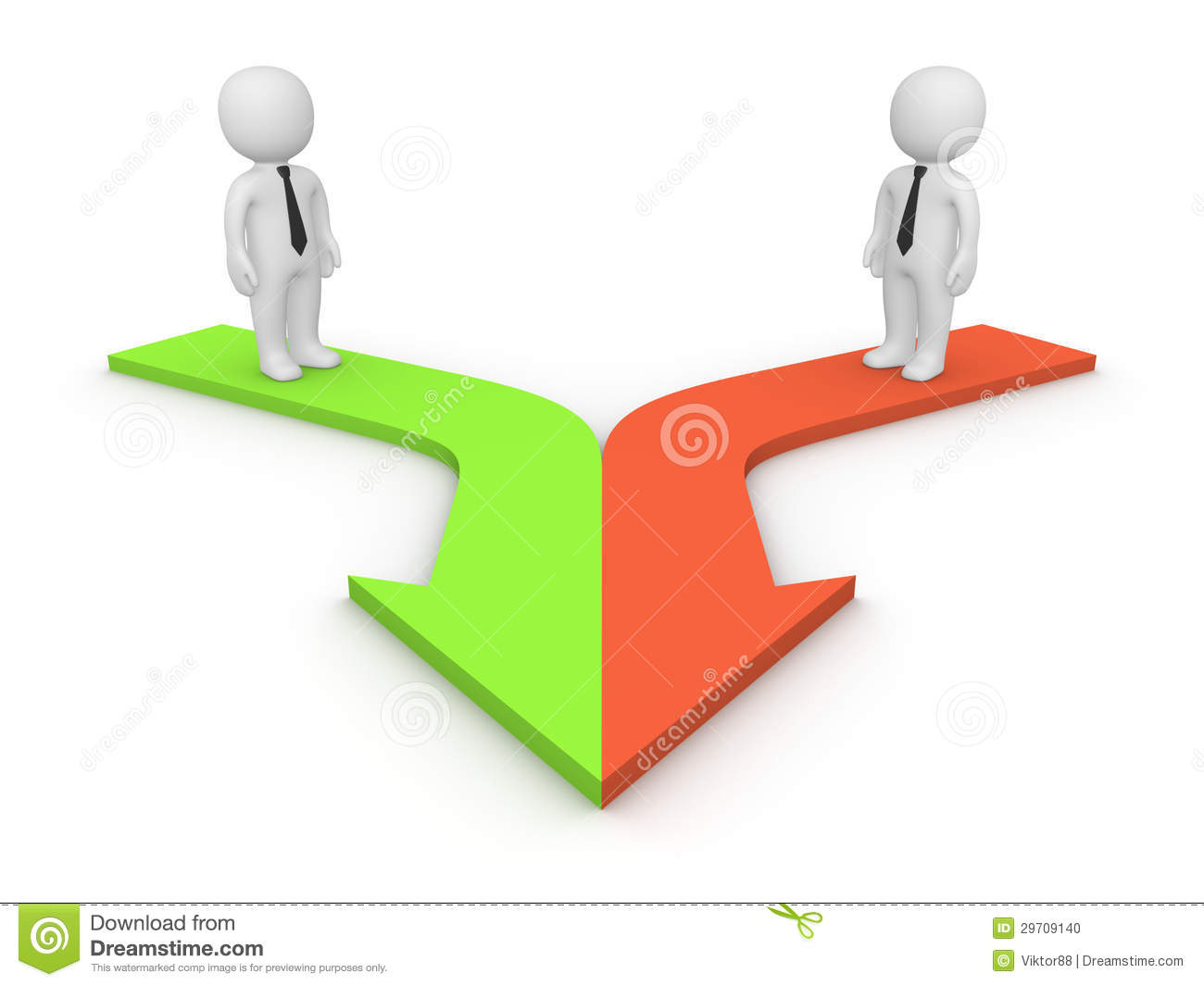 3d people standing on merging arrows stock photo   image