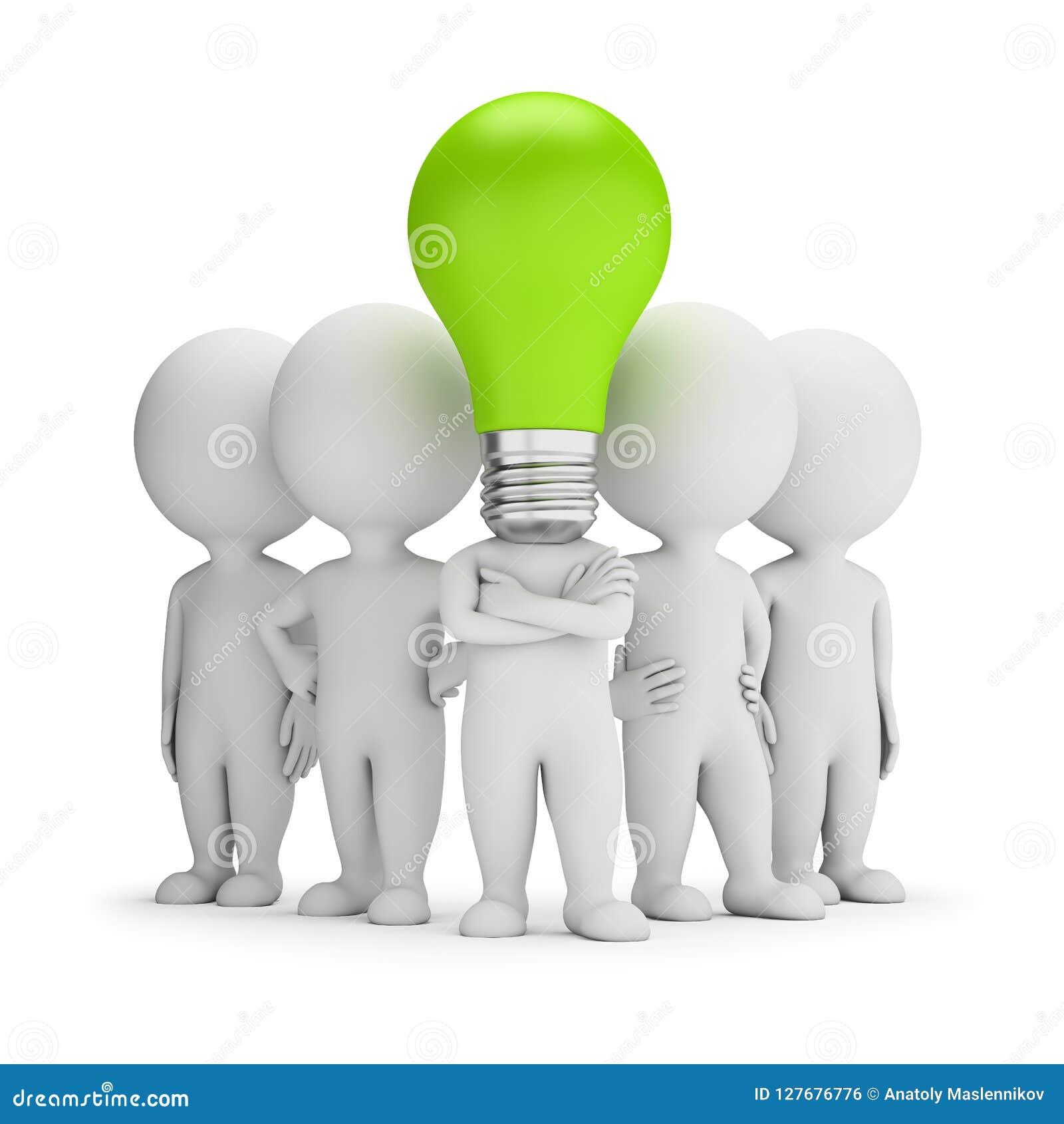 3d pequeña gente - líder de las ideas