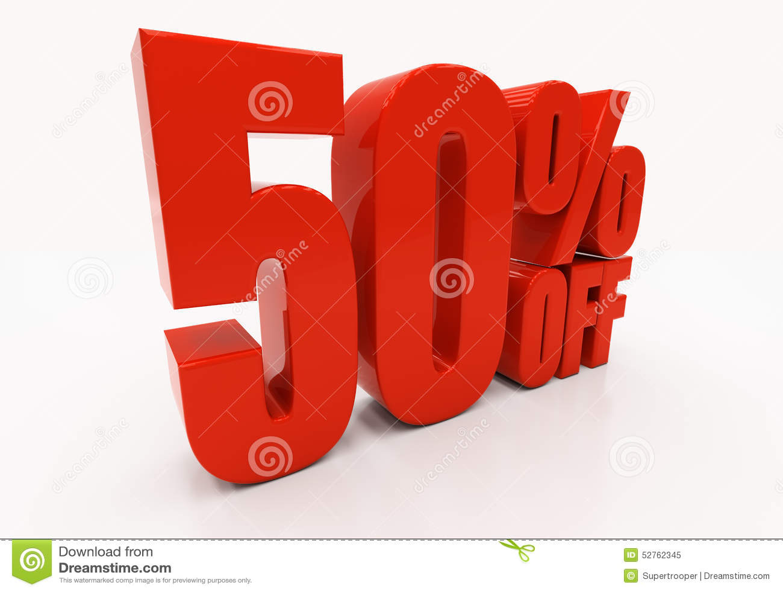 3D 50 percenten