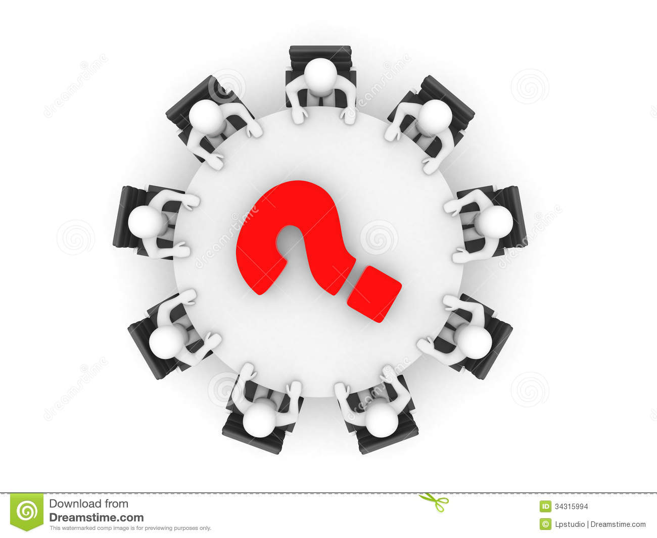 Conference Table Icon Person at Conference Table