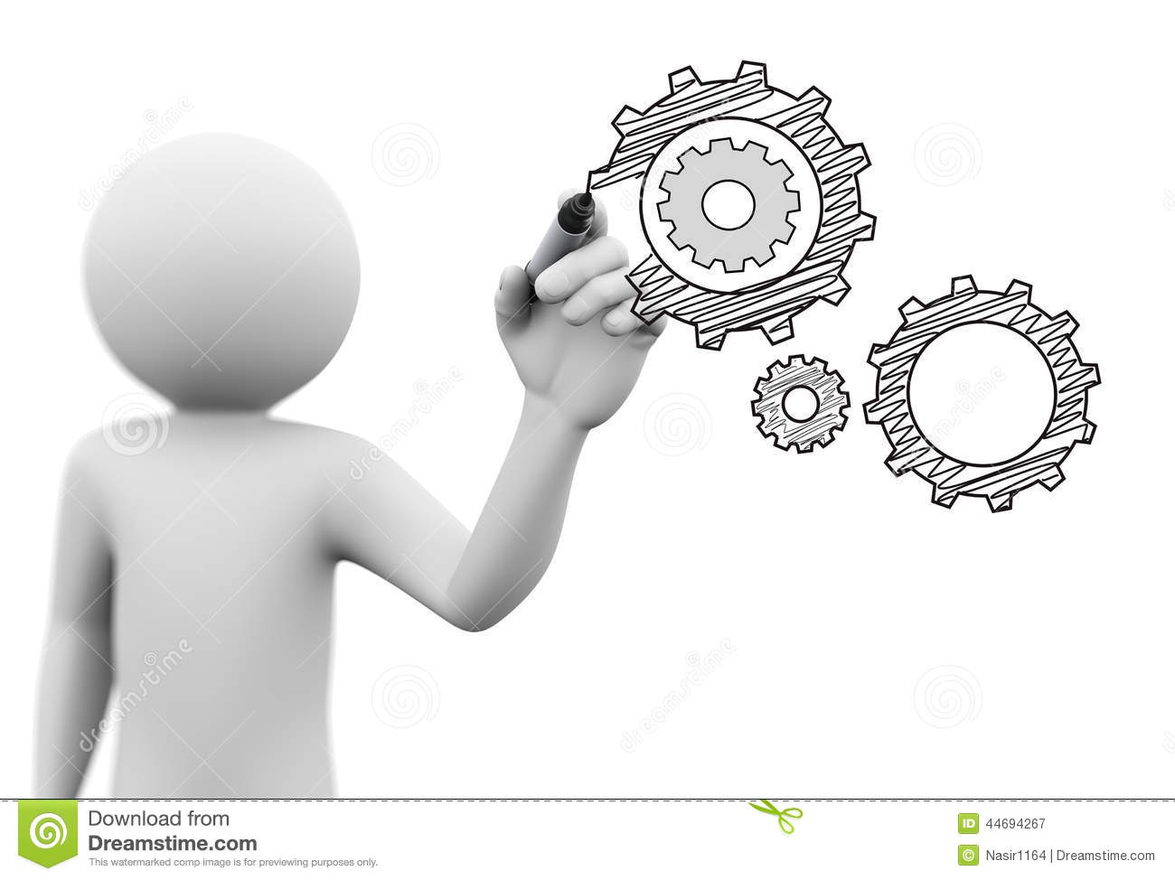 3d person drawing gears cog wheel sketch on transparent for 3d drawing online no download