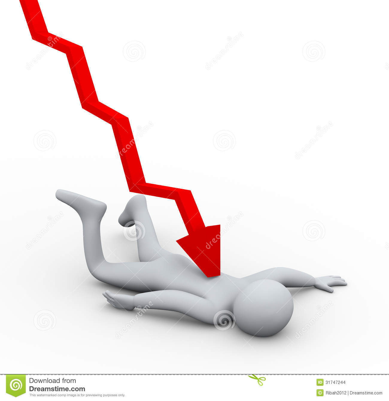 Stock Images D Person Financial Crisis Fall Illustration Falling Man Hit Downword Graph Arrow Concept Working Pressure Image31747244 on cartoon people tripping