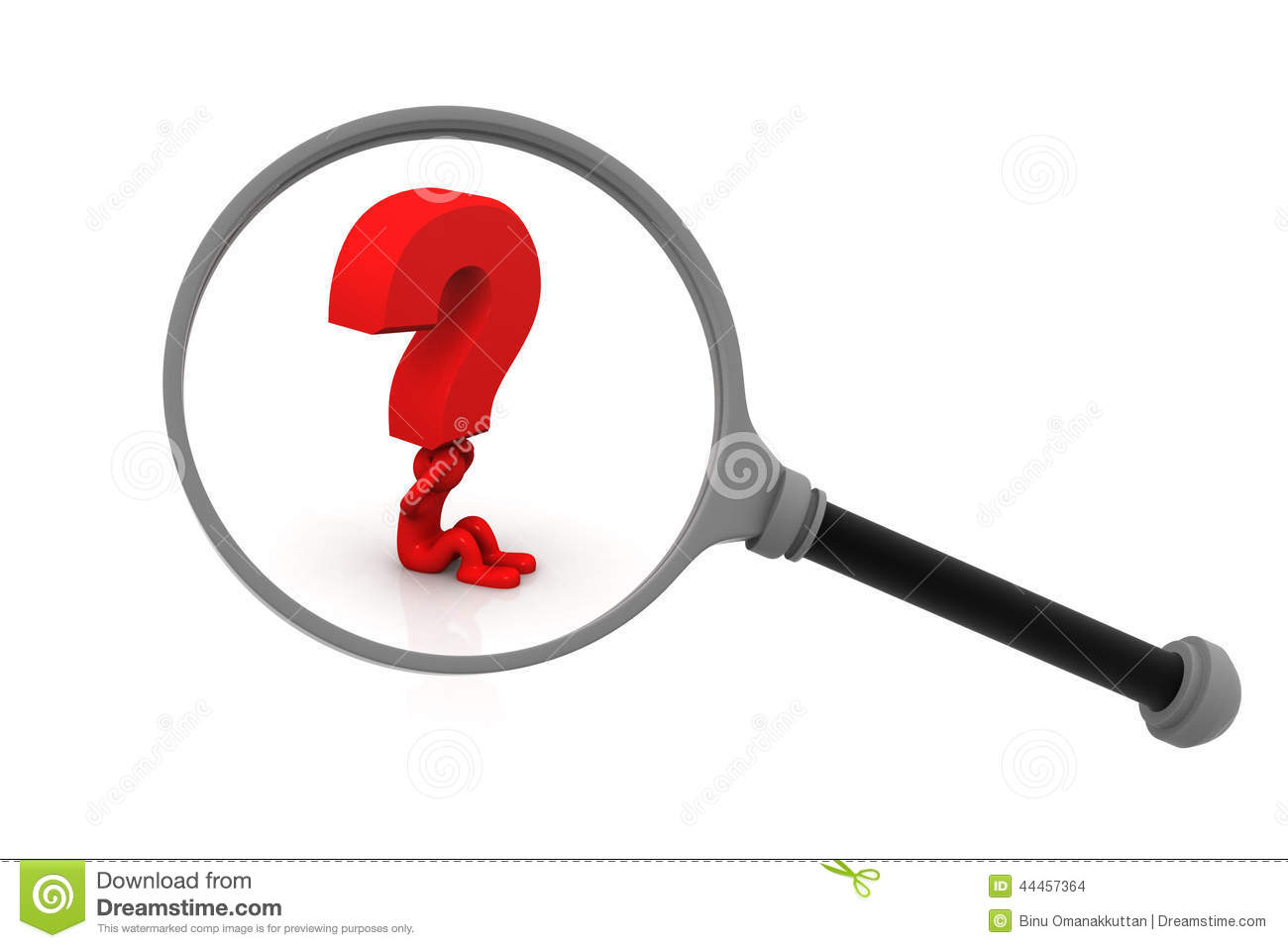 3d person with magnifying glass and question mark stock images image - Glass Magnifying Mark Person Question
