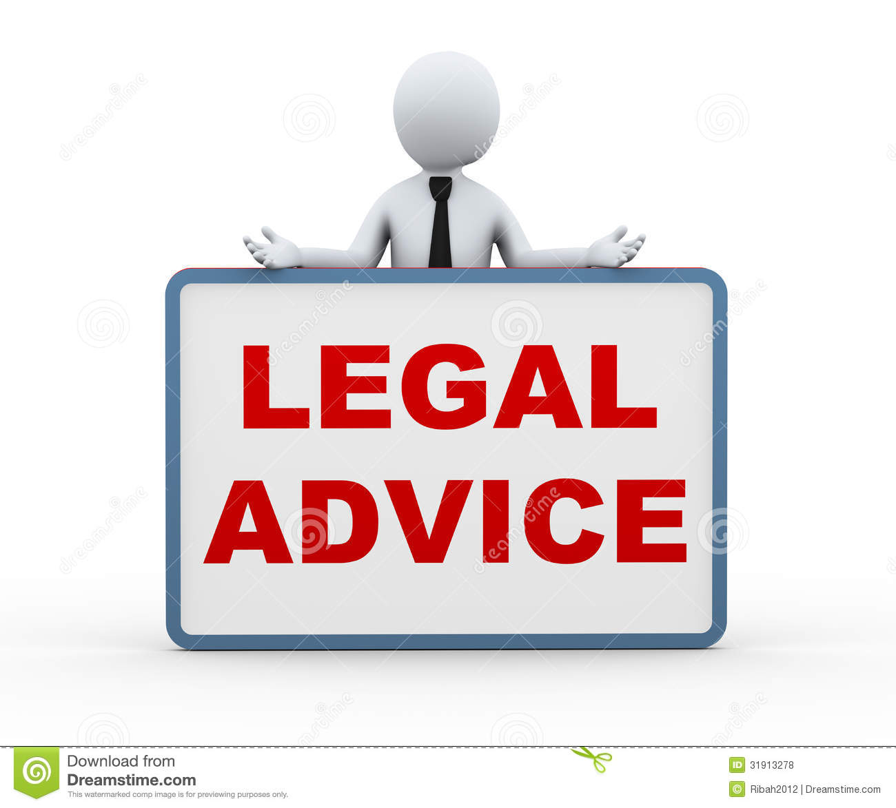 3d Person Presenting Legal Advice Royalty Free Stock ...