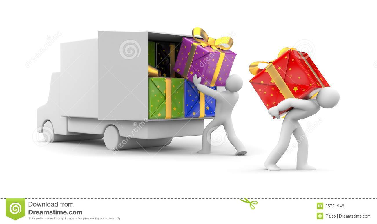 ... Person Unload Car With Gift Royalty Free Stock Image - Image: 35791946: dreamstime.com/royalty-free-stock-image-d-person-unload-car-gift...