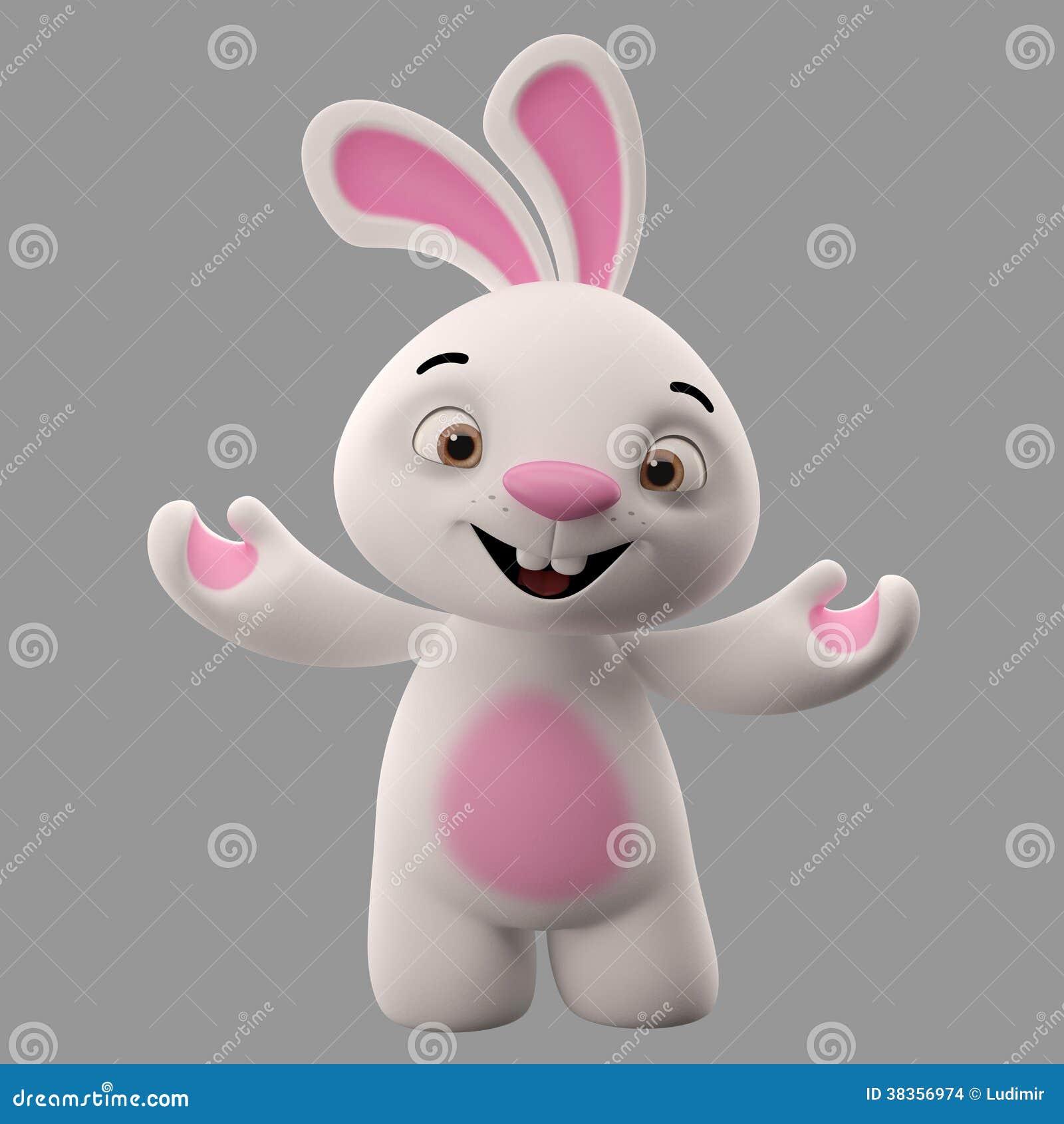 D personaggio dei cartoni animati coniglietto di pasqua