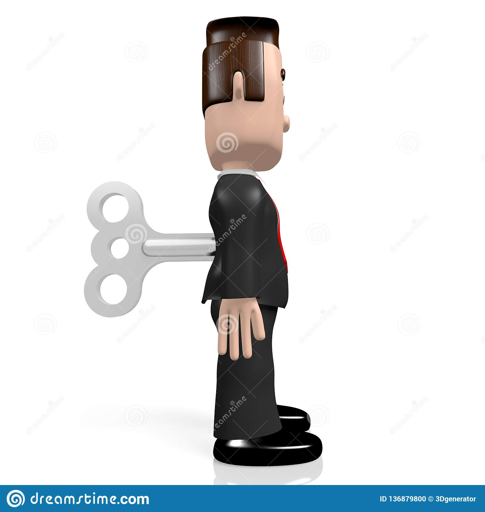 f333cc2f5c78 3D personaje de dibujos animados - hombre de negocios como juguete de la  conclusión