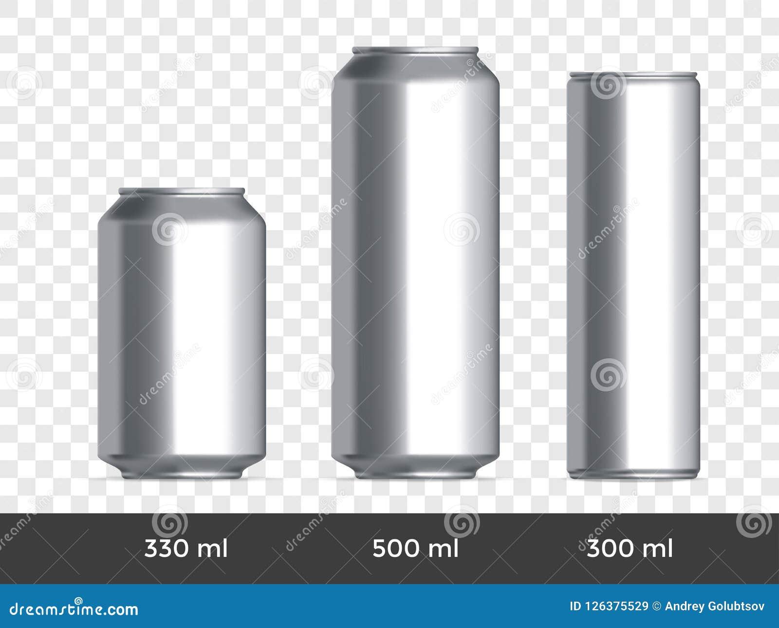 3D peut maquette Dirigez le calibre en aluminium de blanc de bière ou de boîte de soude