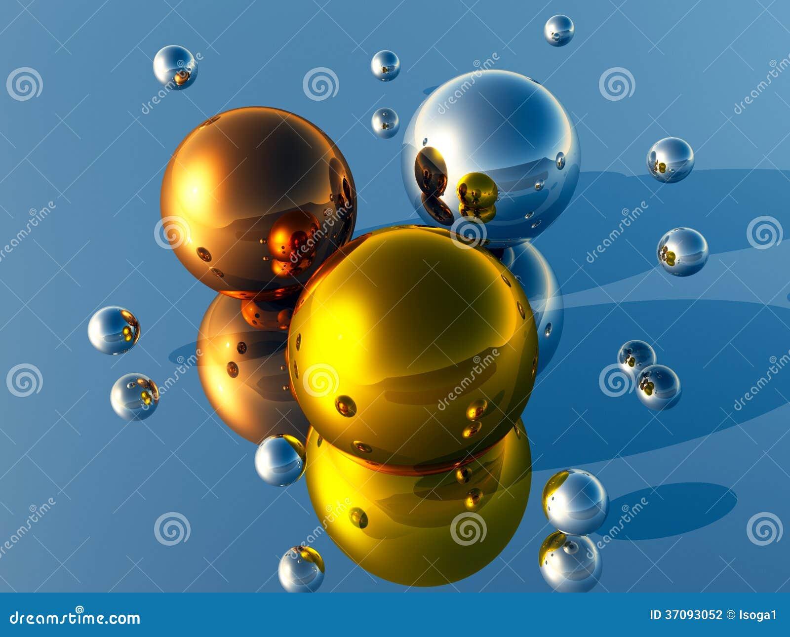 Download 3D piłki ilustracji. Ilustracja złożonej z fantazja, ilustracje - 37093052