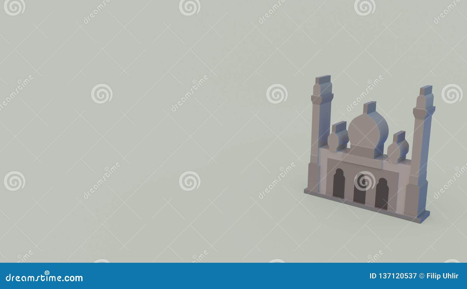3d pictogram van moskee
