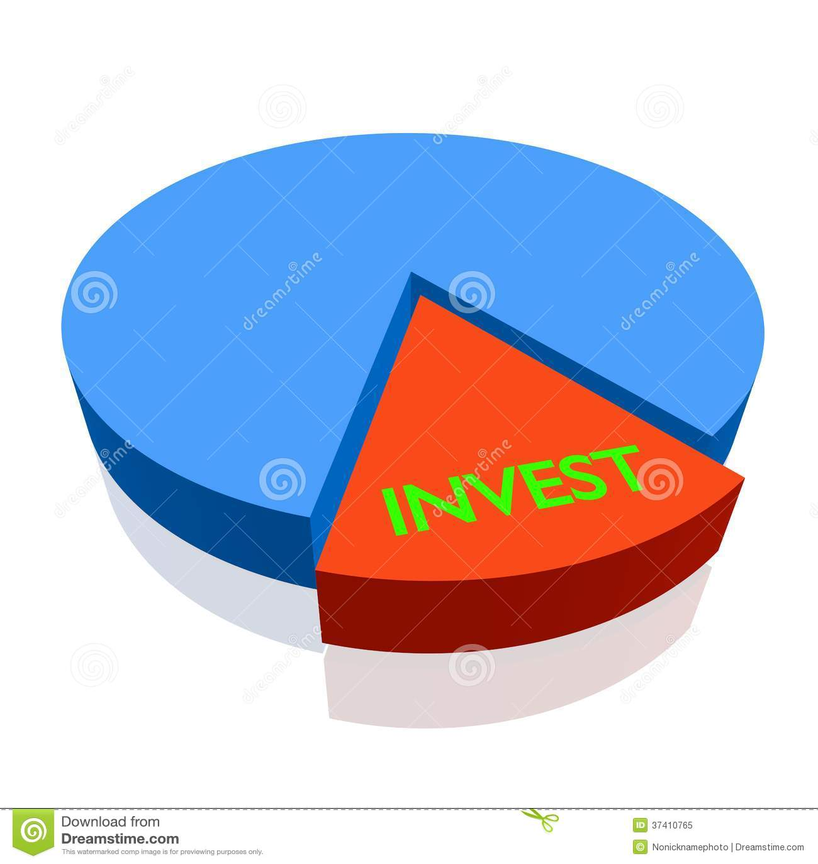 3d pie chart invest stock illustration illustration of salary 3d pie chart invest nvjuhfo Image collections