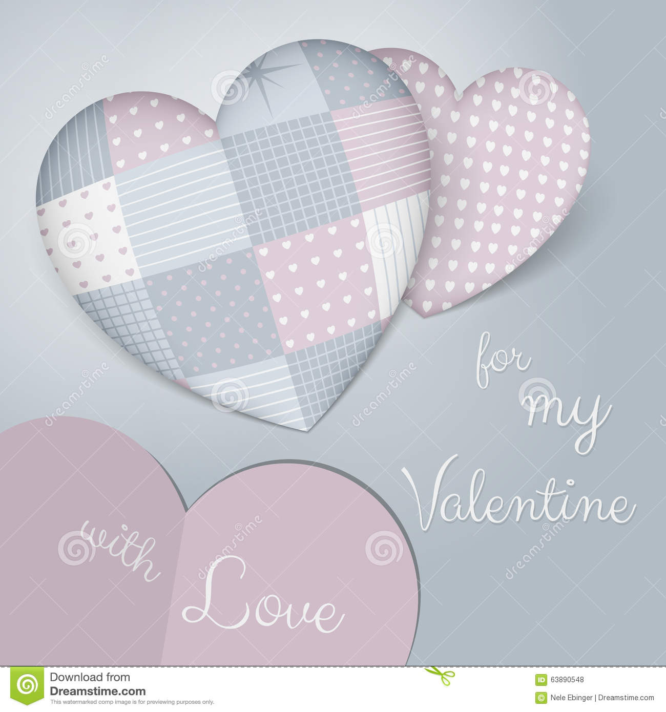 3d Pillows In Shape Of A Heart With Patchwork Sensual Blue And Rose