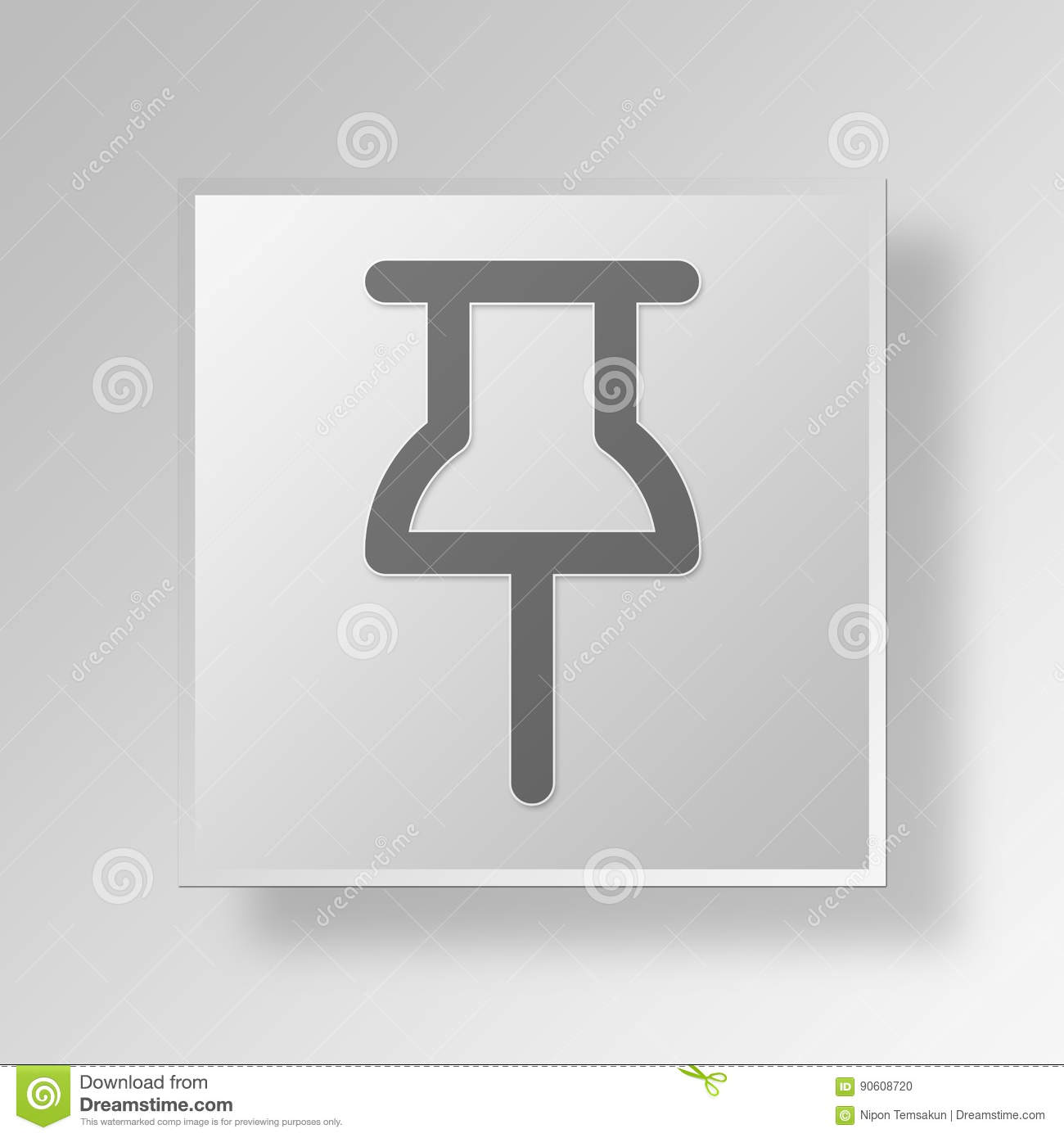 3d Pin Icon Business Concept Stock Illustration Illustration Of