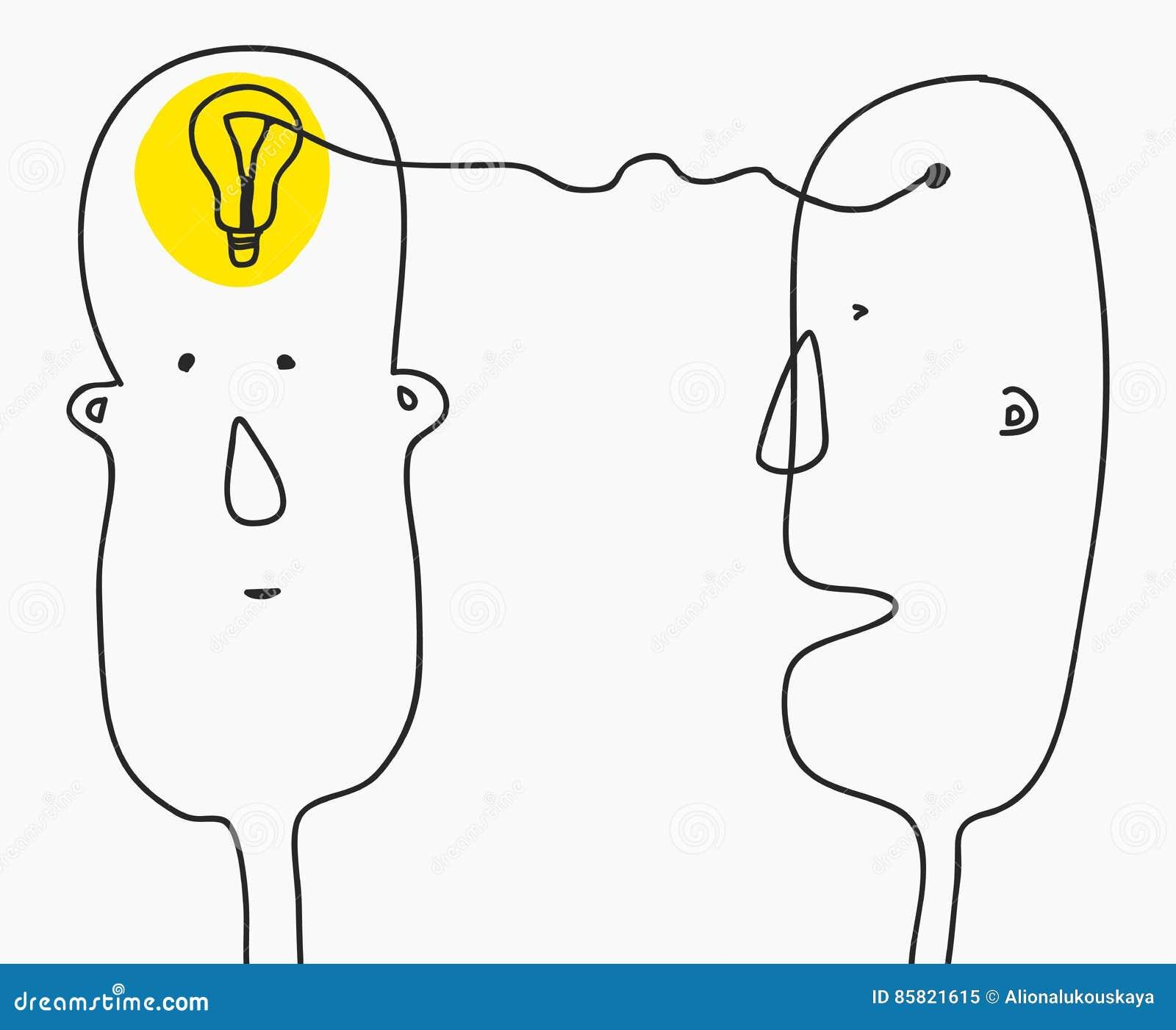 3d pojęcia pomysłu wizerunek odpłacał się Znalezienia rozwiązanie, brainstorming, kreatywnie główkowanie, żarówka symbol Nowożytn