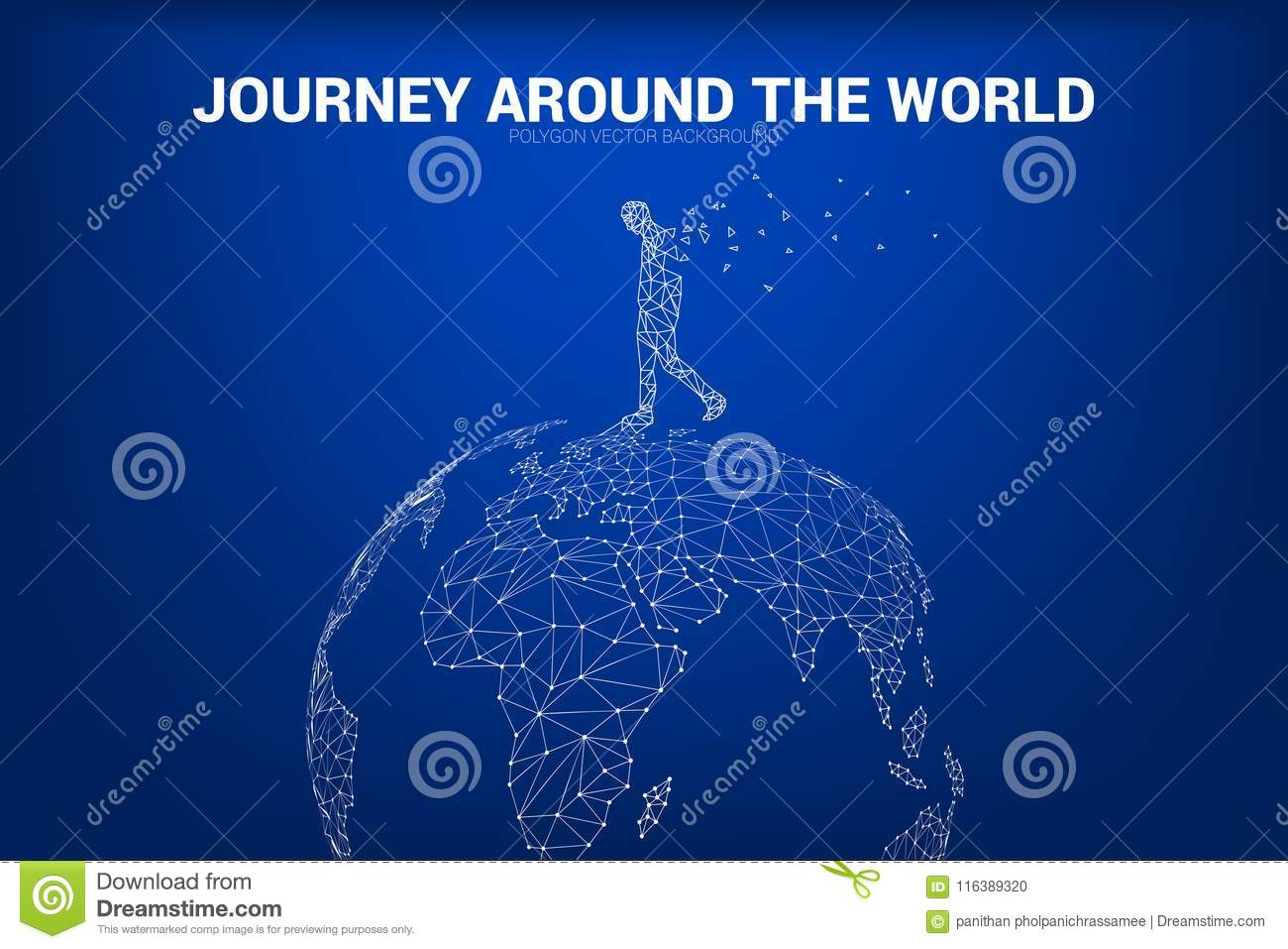Man walk on 3d world map globe wireframe polygon dot connect line download man walk on 3d world map globe wireframe polygon dot connect line concept of gumiabroncs Images