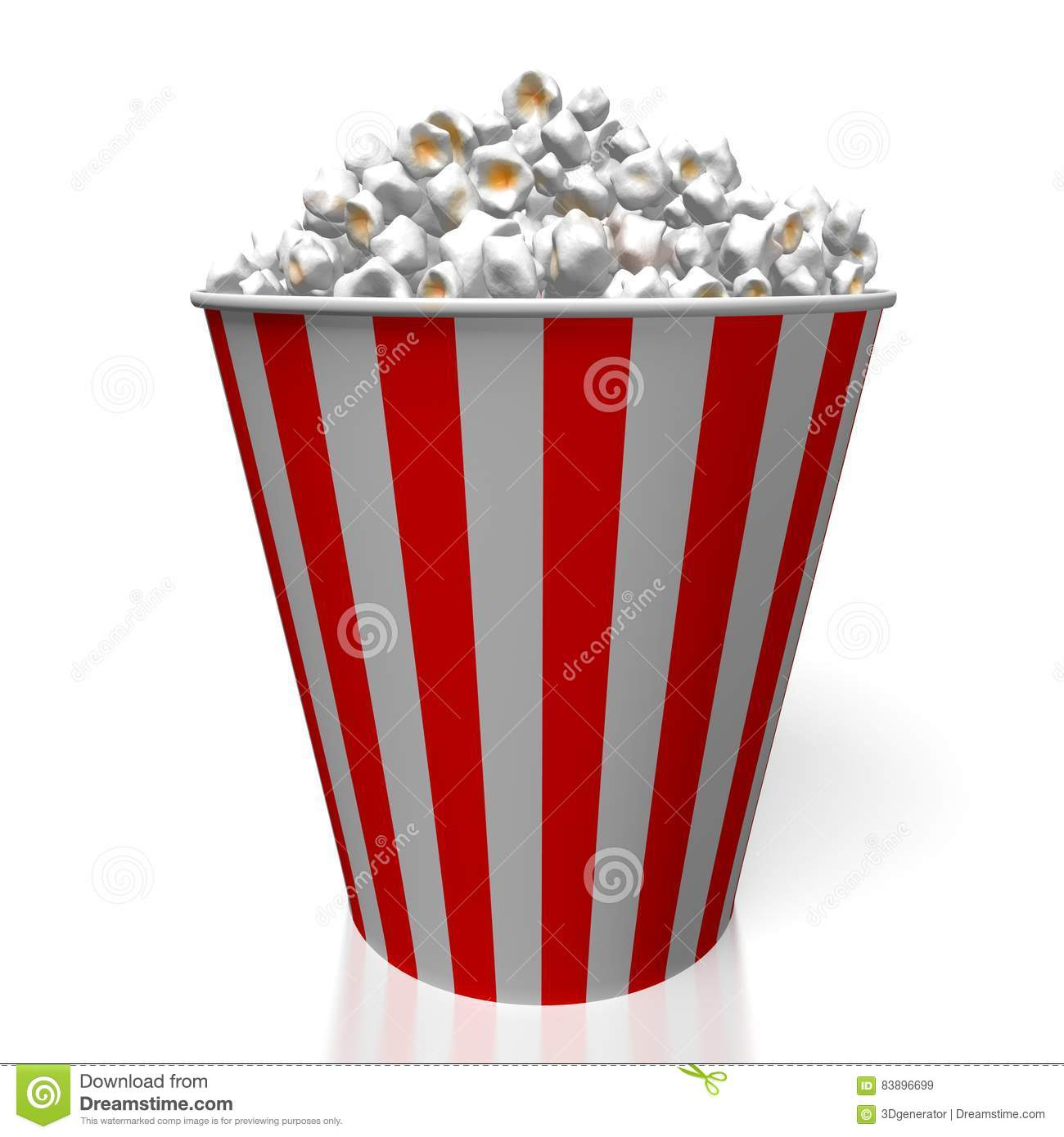 3D popcorn stock illustration  Illustration of concept - 83896699