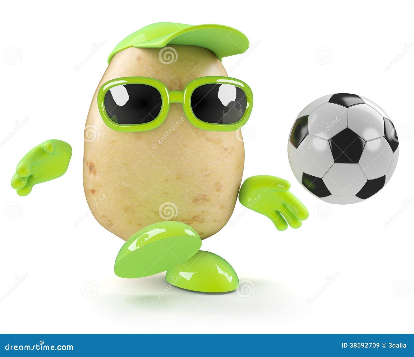 3d Potato Soccer Stock Illustration Image Of Football