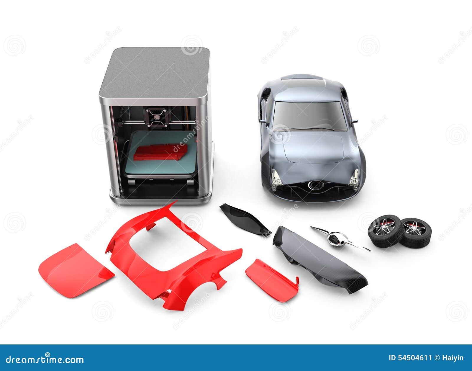 3D Printer Printing Car Body Parts Stock Image - Image of