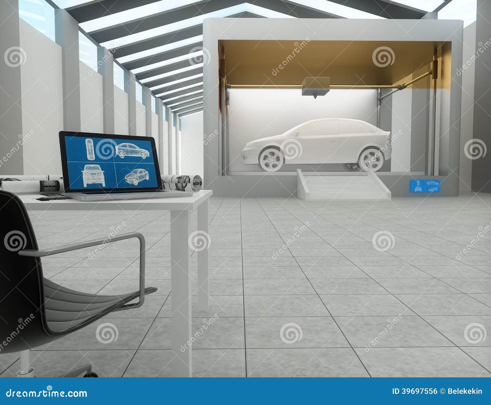 3d Printer, Printing Car Stock Illustration. Illustration