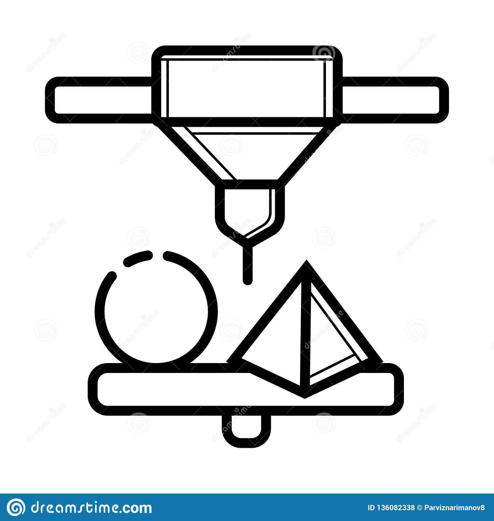 3d printer vector icon printing stock illustration illustration of manufacturing construction 136082338 https www dreamstime com d printer vector icon printing d printer vector icon printing image136082338