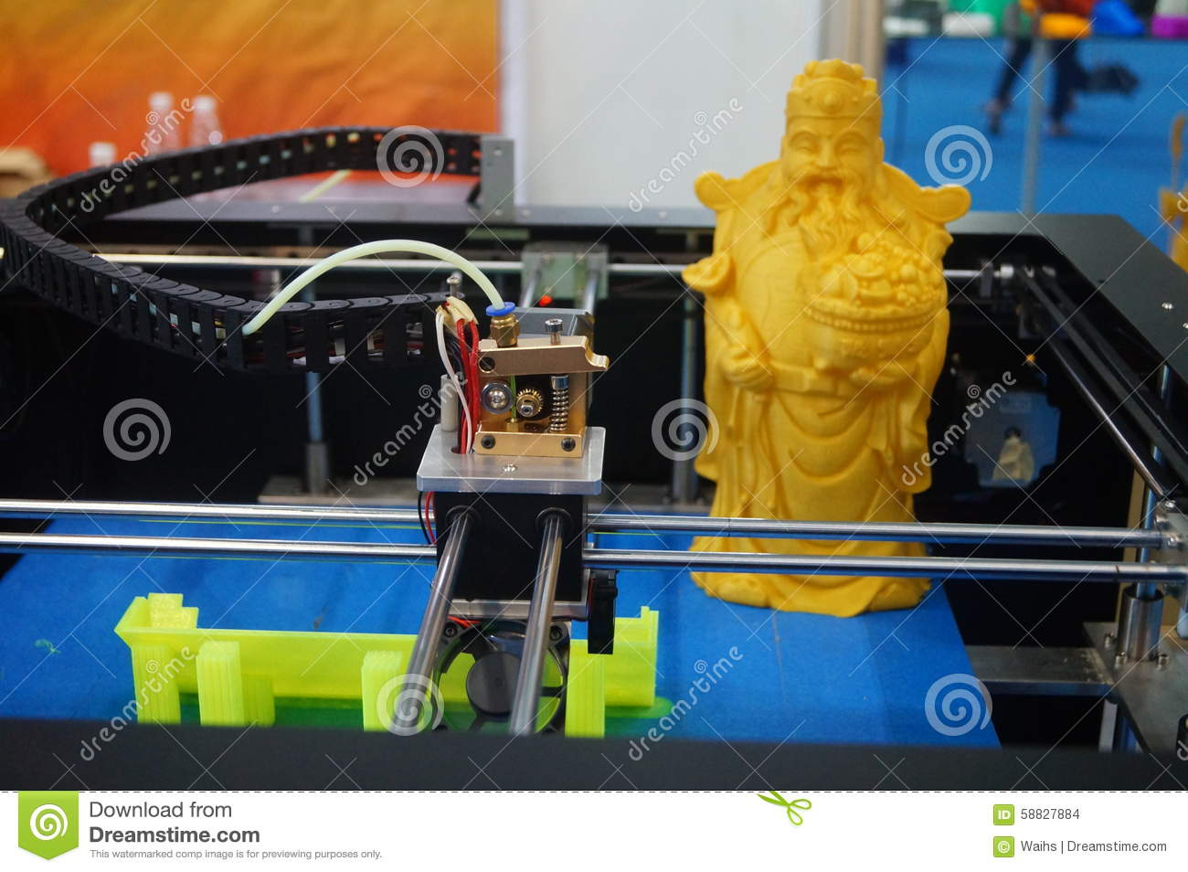 D Printing Exhibition Usa : D printing equipment in operation stock photo image