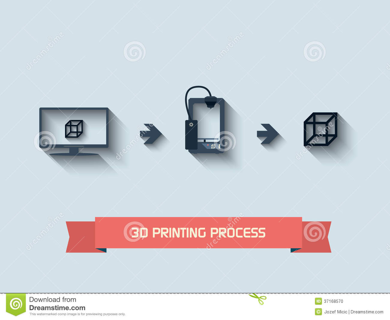 3d Printing Icons Stock Vector Illustration Of Plaster