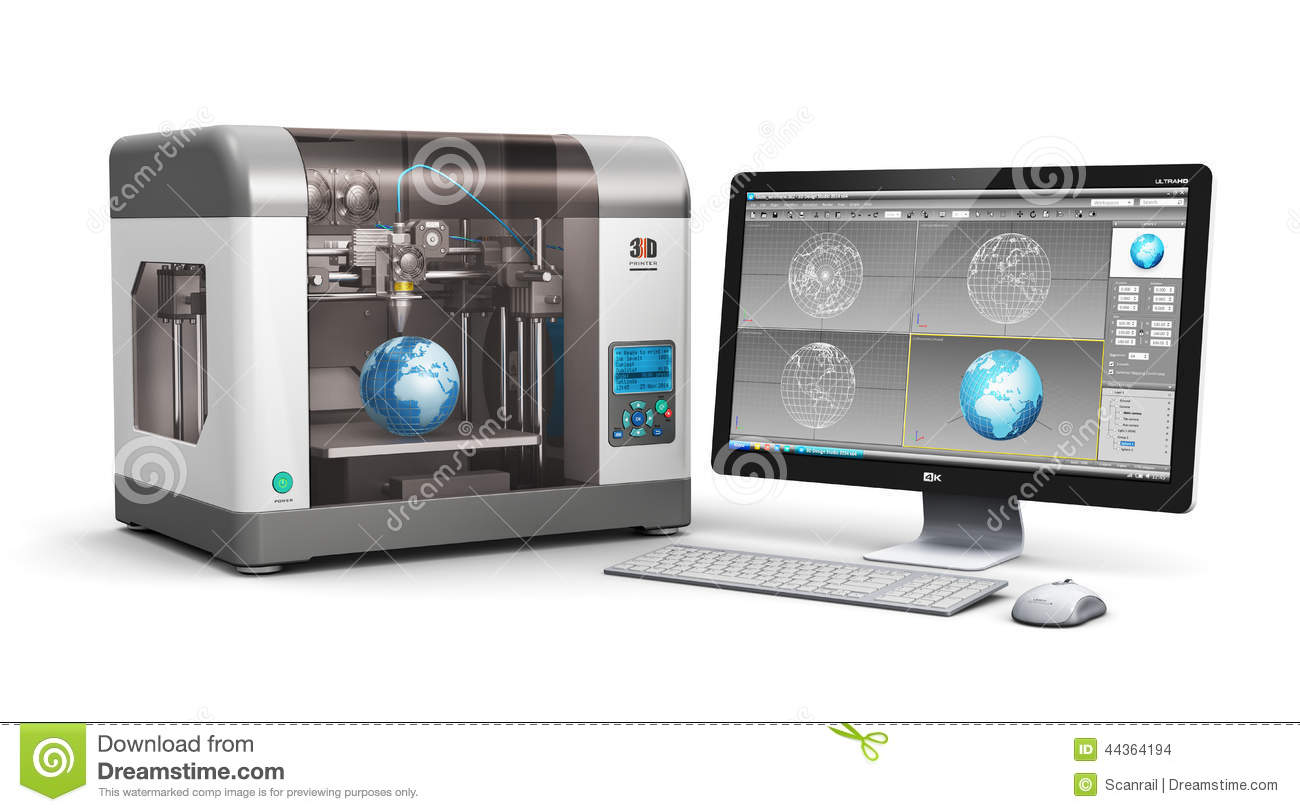 3d printing technology stock illustration image of 3d printer design software