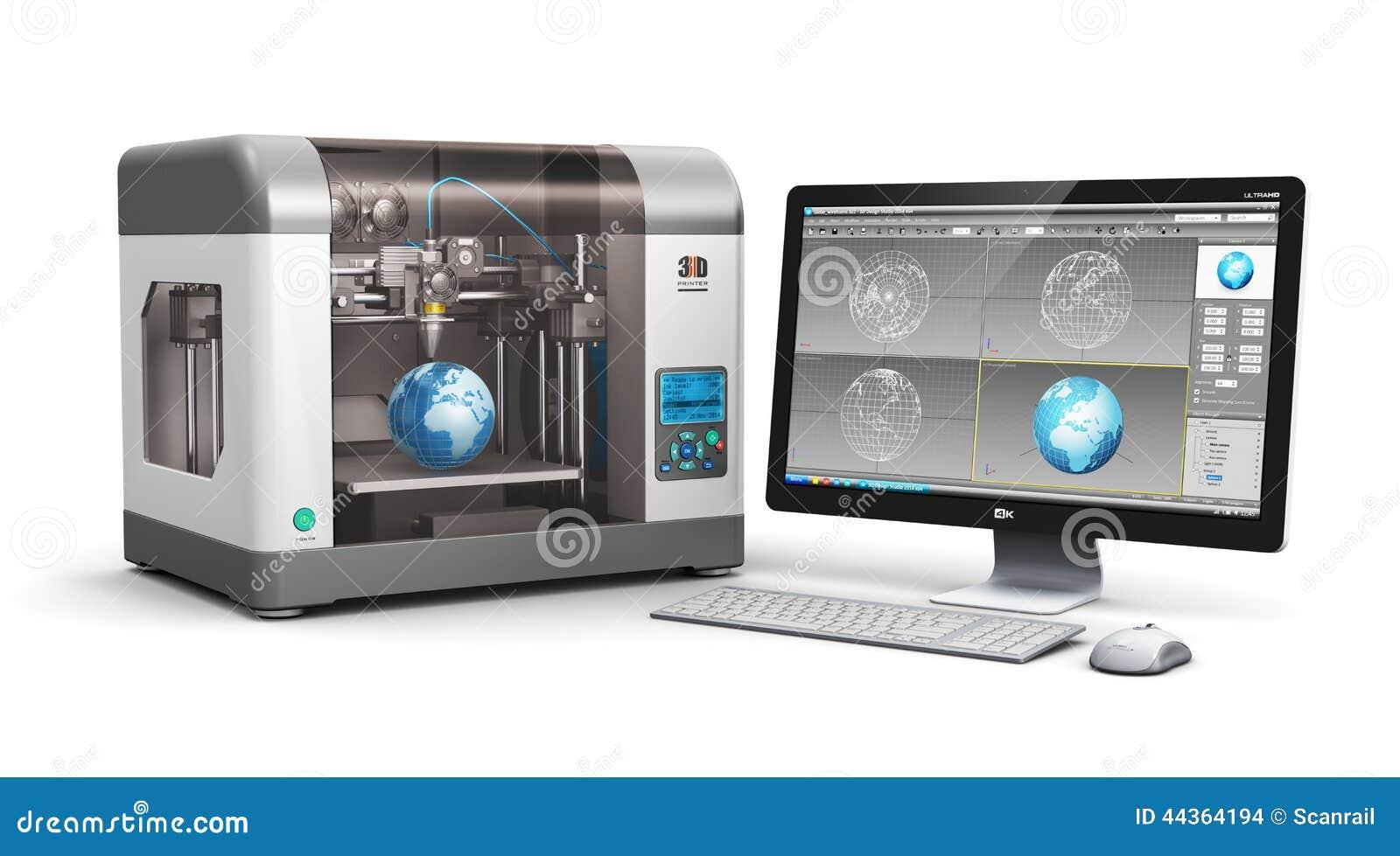 3d Printing Technology Stock Illustration Image 44364194