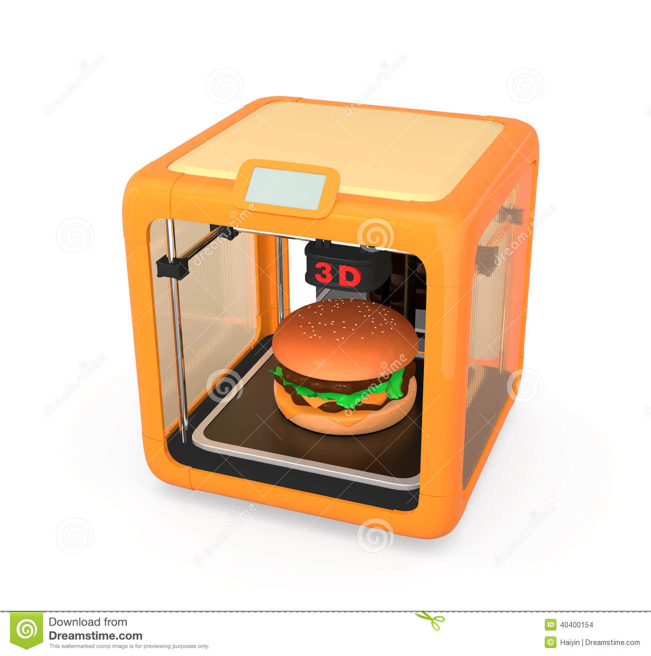 3D Printing Technology For Food Industry Stock Illustration - Image: 40400154