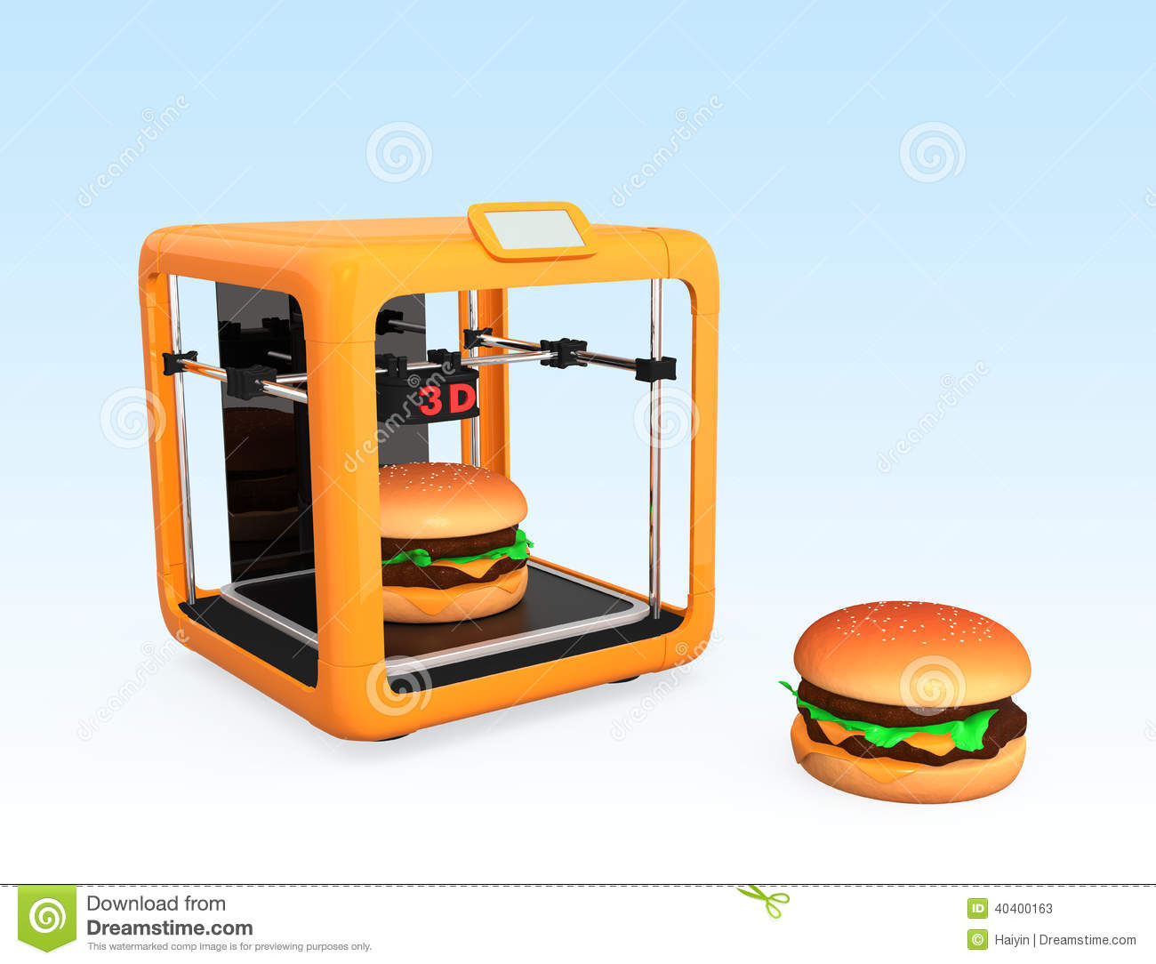 3D Printing Technology For Food Industry Stock Illustration - Image: 40400163
