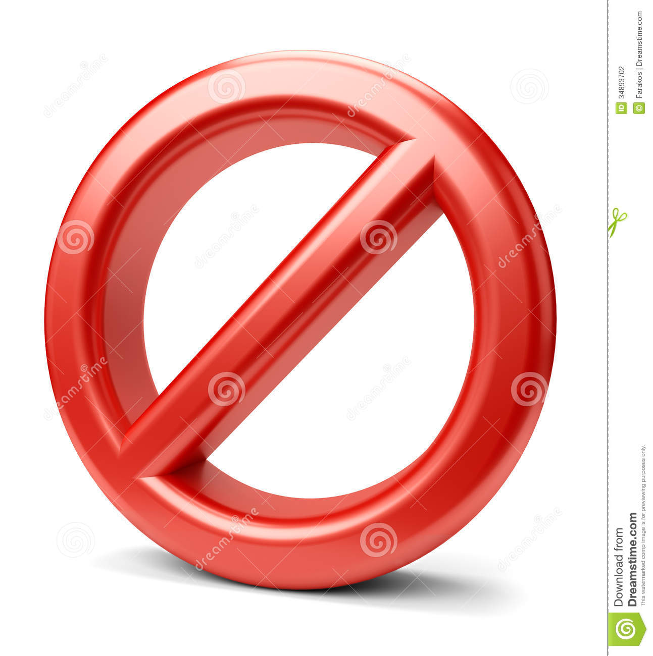 3d Prohibited Sign Stock Photography - Image: 34893702
