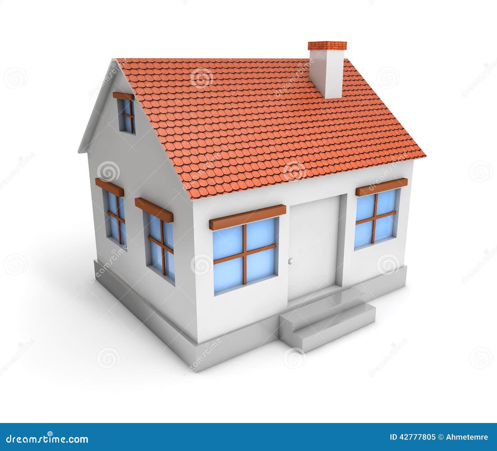 3D Prosty dom