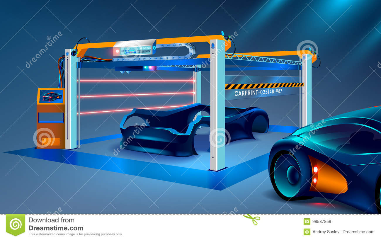 3d Prototyping And 3d Printing Of A Car, Automobiles At A