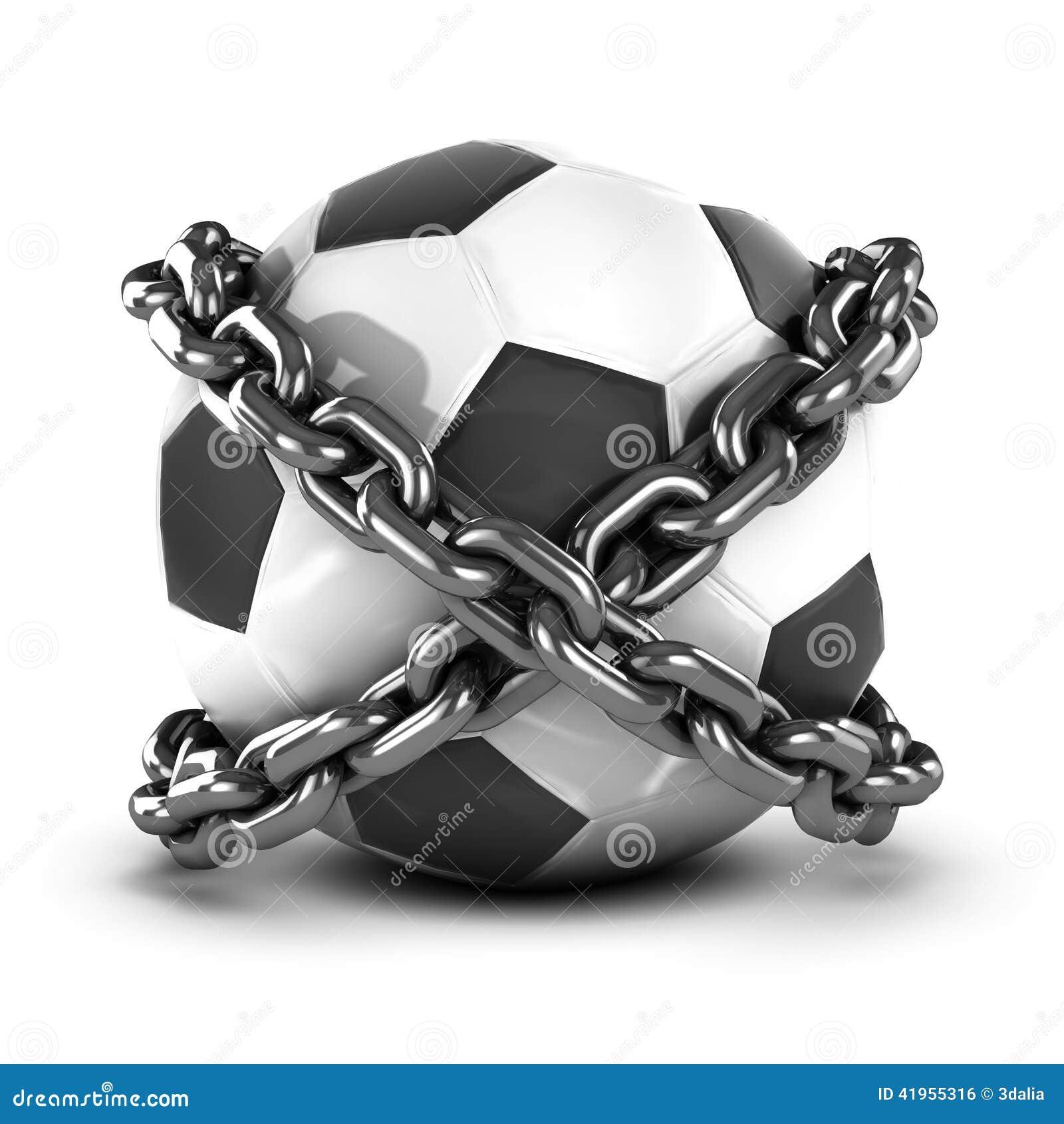 3d Przykuwający futbol