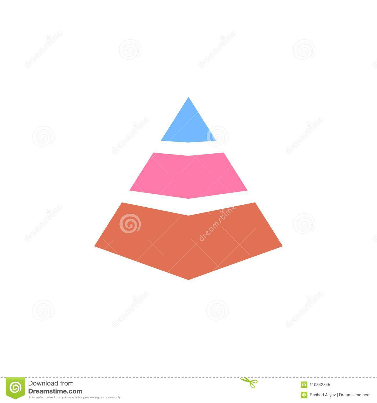 3d pyramid diagram icon  element of colored charts and diagrams for mobile  concept and web