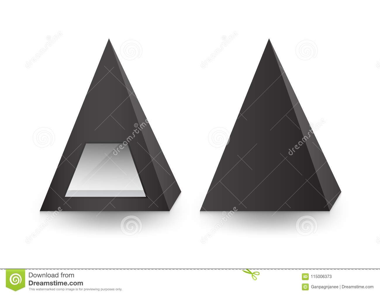 3d Pyramid Package, Box, Product Design,Vector Illustration. Stock ...