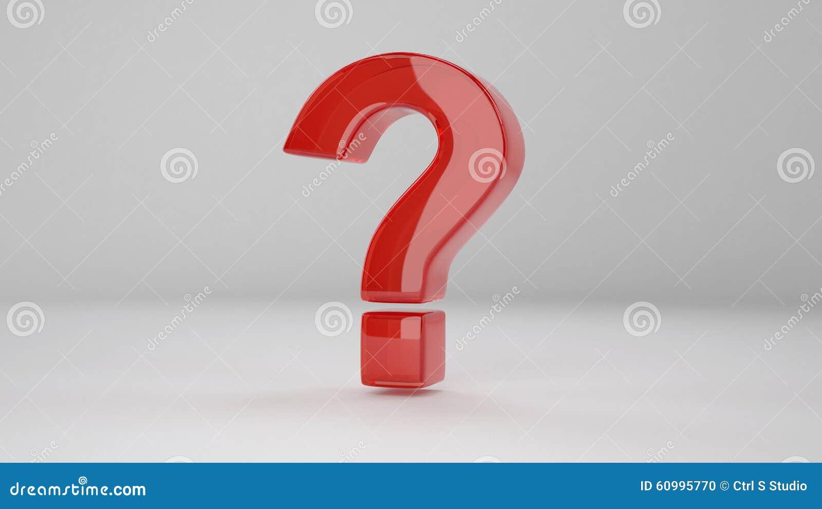 3D Question Mark stock illustration  Illustration of