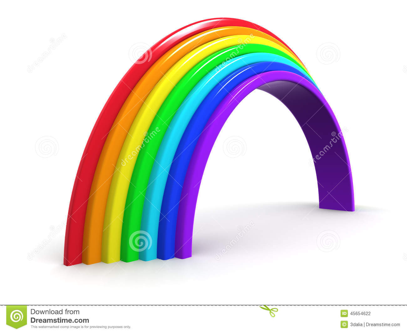 Rainbow arch stock photo 16315782 for How to make a rainbow arch