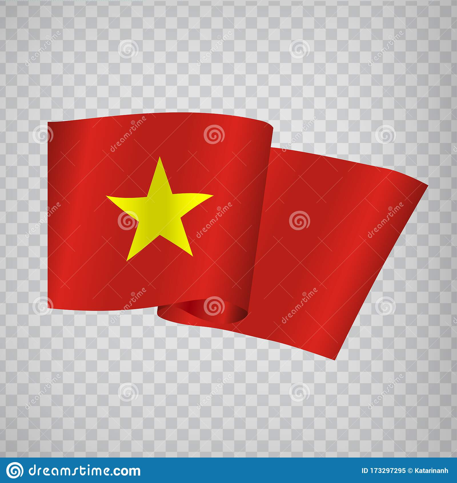 3d Realistic Waving Flag Of Vietnam On Transparent Background National Flag Socialist Republic Of Vietnam For Your Web Site Desi Stock Vector Illustration Of Illustration Patriotism 173297295