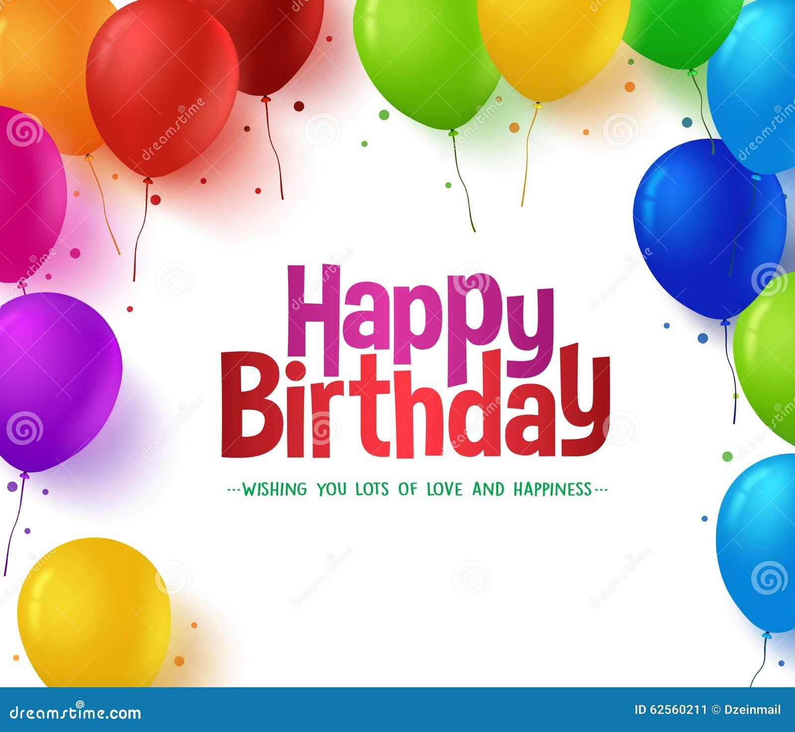 3d Realistyczna Kolorowa wiązka wszystkiego najlepszego z okazji urodzin Szybko się zwiększać tło