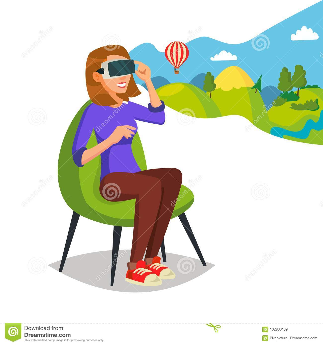 Collection Of Simulator Clipart: Virtual Reality Helmet, Glasses Vector. Innovation Play