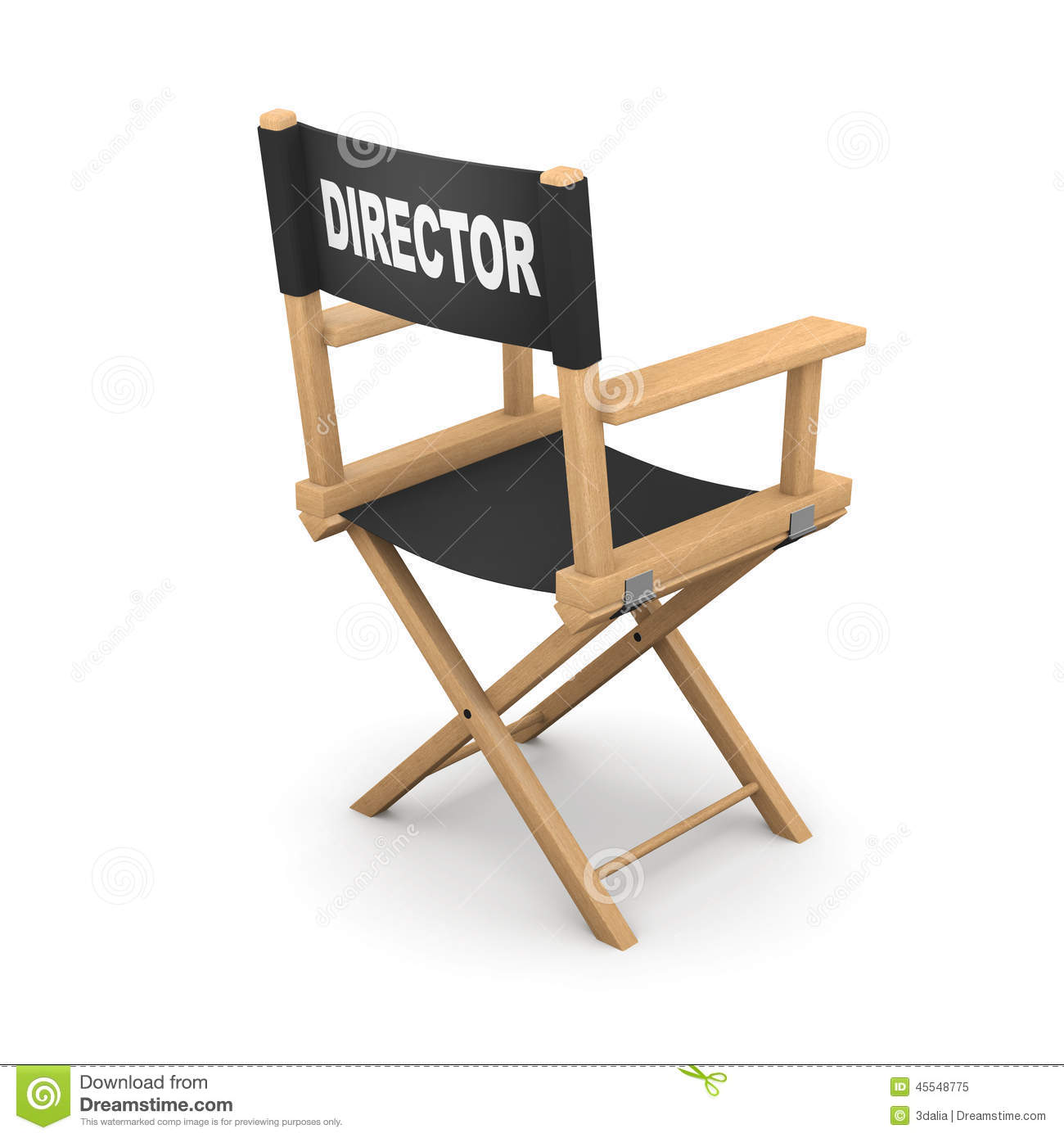 Back of directors chairs - Back Of Director Chairs 3d Rear View Movie Directors Chair Royalty Free Stock Photo