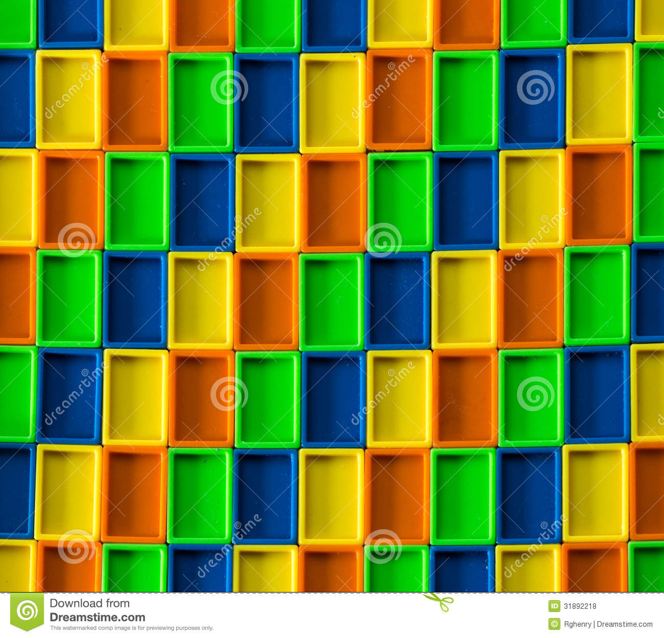 3D Rectangle Color Pattern Stock Photo. Image Of Color
